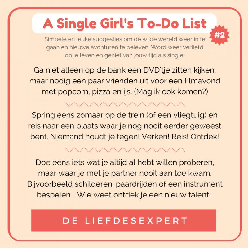 Tips voor een single vrouw om meer uit het leven te halen.