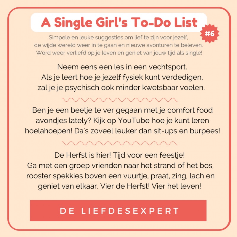 Simpele suggesties om je leven als single leuker te maken