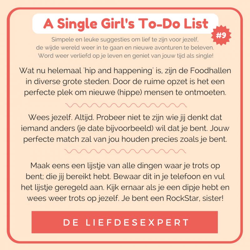 Simpele suggesties om je single leven leuker te maken, om lief te zijn voor jezelf en te genieten van het leven. Voor je het weet, is het voorbij!