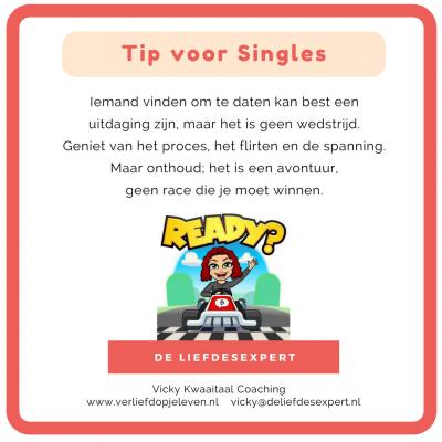 Tip voor Singles; doe het rustig aan tijdens het daten.